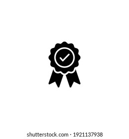 Medal with check mark icon vector for computer, web and mobile app