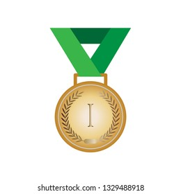Medal Icon. Award Illustration As A Simple Vector Sign & Trendy Symbol for Design and Websites, Presentation or Mobile Application.