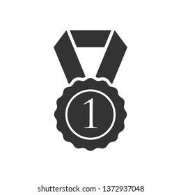 Medal Icon. Award or Winner Illustration As A Simple Vector Sign & Trendy Symbol for Design, Sport Websites, Presentation or Application.