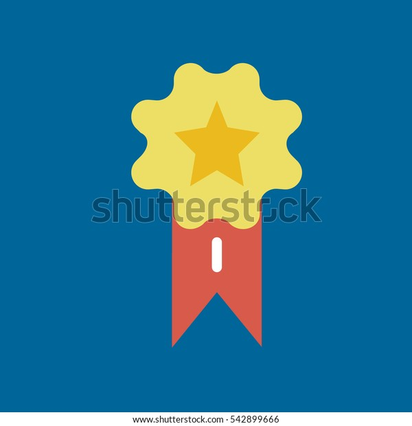 medal icon flat disign