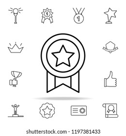 medal icon. Succes and awards icons universal set for web and mobile