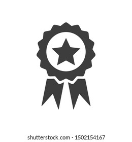 medal icon template color editable. medal  symbol vector sign isolated on white background.