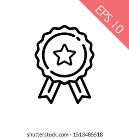 Medal Icon in trendy flat style isolated on grey background. Medal symbol for your web site design, logo, app, UI. Vector illustration, EPS10, Premium.