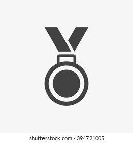 Medal Icon in trendy flat style isolated on grey background. Medal symbol for your web site design, logo, app, UI. Vector illustration, EPS10.