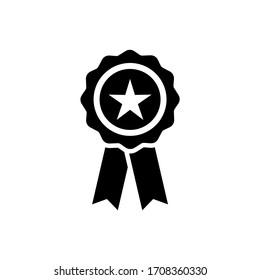 Medal icon vector. Award icon vector isolated