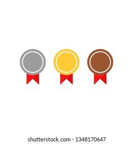 Medal icon. Vector flat design