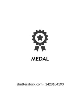 medal icon vector. medal vector graphic illustration