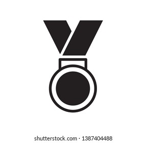 Medal icon vector illustration logo template