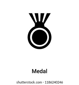 Medal icon vector isolated on white background, logo concept of Medal sign on transparent background, filled black symbol
