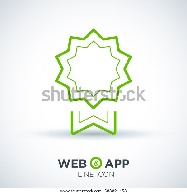 medal isolated minimal icon. trophy line vector icon for websites and mobile minimalistic flat design.