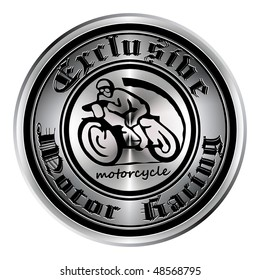 The medal is made in the old style with the image of the motorcycle.
