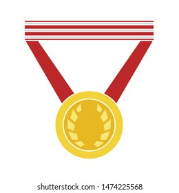 medal prize icon. flat illustration of medal prize vector icon. medal prize sign symbol