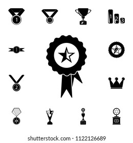 medal with a star icon. Detailed set of Sucsess and awards icons. Premium quality graphic design sign. One of the collection icons for websites, web design, mobile app on white background
