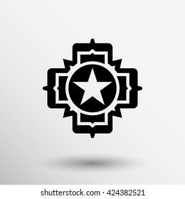 medal and star symbol logo veteran icon logo.