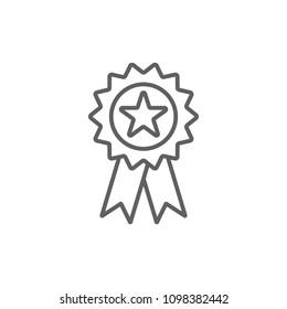 Medal thin icon vector