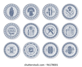 Medallions of Ancient Rome, vector