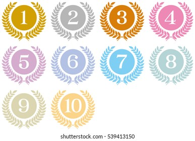 Medals, ranking, top ten,