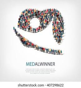 medalwinner people sign 3d