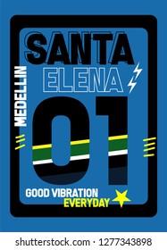 medellin santa elena good vibration,t-shirt design