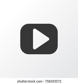 Media Action Play Video Icon Symbol. Premium Quality Isolated Play Video Icon Action Element In Trendy Style.