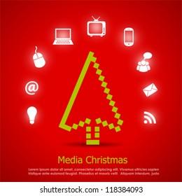 Media christmas vector card