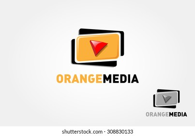 It's a Media company logo or film production studio or audio-visual studio or on-line media.