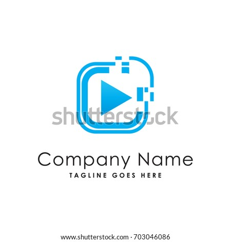 media cool logo template stock vector royalty free 703046086