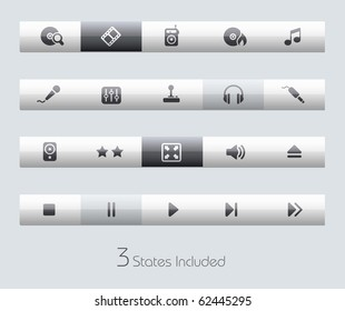 Media & Entertainment // Classic Series +++ It includes 3 buttons states in different layers. +++