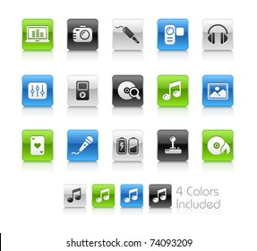 Media & Entertainment // Clean Series -------It includes 4 color versions for each icon in different layers ---------