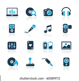 Media & Entertainment Web Icons // Azure Series