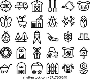 Media icon Beautiful Countryside Line Style for any purposes website mobile app presentation