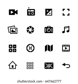 Media Icons // Black Series - Vector icons for your digital or print projects.