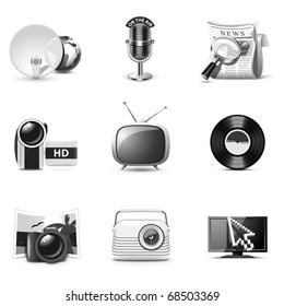 Media icons   B&W series