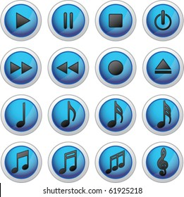 Media Icons - Musical Buttons