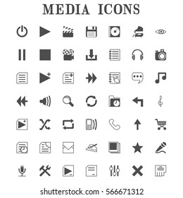 Media icons for web site
