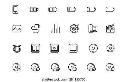 Media Line Vector Icons 2