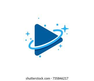 Media Planet Icon Logo Design Element