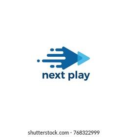 Media Play Pixel Logo Design Template