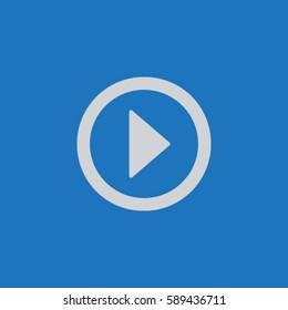 Media player button play vector icon