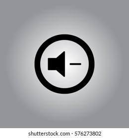 Media player button volume down vector icon