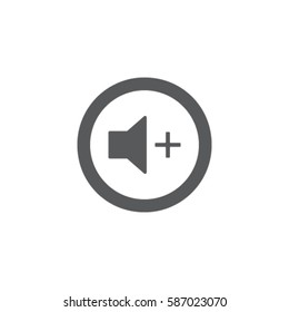Media player button volume up vector icon