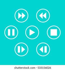 media player control button
