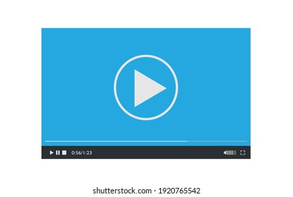 Media player design template for web and mobile apps flat style. Vector illustration