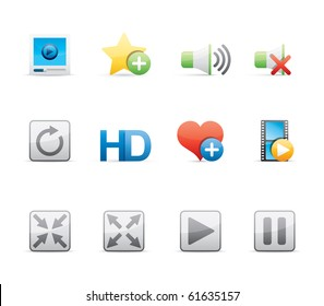 Media Player icon set 15 - Glossy Series.  Vector EPS 8 format, easy to edit.