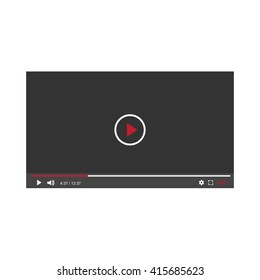 media player interface  for web , vector illustration