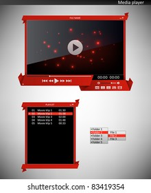 Media player (origami interface)