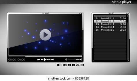 Media player with playlist