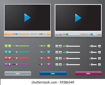 media player in vector
