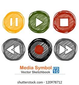 Media symbol : vector sketchbook