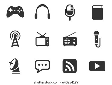 media web icons for user interface design